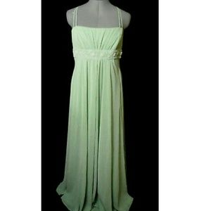DAVID'S BRIDAL Beaded Empire Dress 12 Mint green